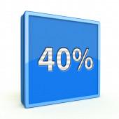 Fourty percent square icon on white background — Zdjęcie stockowe