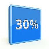 Thirty percent square icon on white background — Zdjęcie stockowe