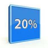 Twenty percent square icon on white background — Zdjęcie stockowe