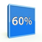 Sixty percent square icon on white background — Foto de Stock