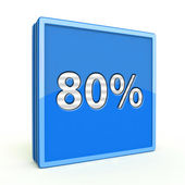 Eighty percent square icon on white background — Foto de Stock