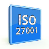 Iso 27001 square icon on white background — Stock Photo