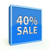 Sale forty percent square icon on white background — Zdjęcie stockowe
