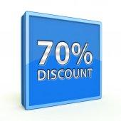 Discount seventy percent square icon on white background — Zdjęcie stockowe