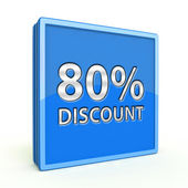 Discount eighty percent square icon on white background — Foto de Stock
