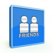 Friends square icon on white background — Stok fotoğraf