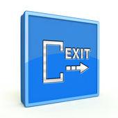 Exit square icon on white background — Foto de Stock