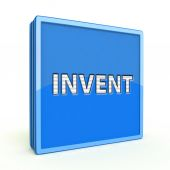 Invent square icon on white background — Stock Photo