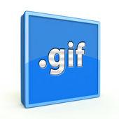 Gif square icon on white background — Stock Photo