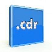 Cdr square icon on white background — Stock fotografie