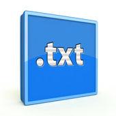 Txt square icon on white background — Stock Photo