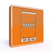 Mms square icon on white background — Stock Photo