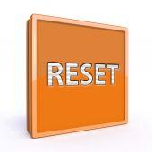 Reset square icon on white background — Stock Photo