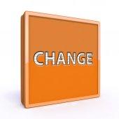 Change square icon on white background — Stock Photo