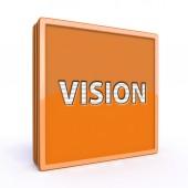 Vision square icon on white background — Stock Photo