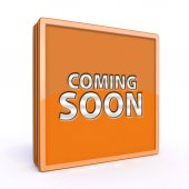Coming soon square icon on white background — Stock Photo
