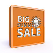 Summer sale square icon on white background — Stock Photo