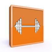 Gym  square icon on white background — Stock Photo