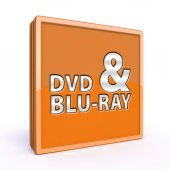 Dvd and bluray square icon on white background — Стоковое фото
