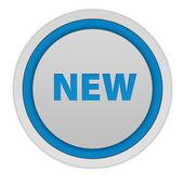 New circular icon on white background — Stock Photo