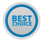 Icono circular de mejor opción sobre fondo blanco — Foto de Stock