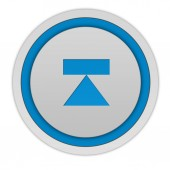 Eject circular icon on white background — Stock Photo