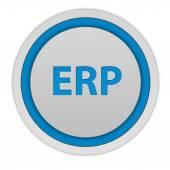 ERP circular icon on white background — Stock Photo