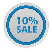 Sale ten percent circular icon on white background — Stock Photo