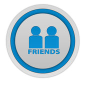 Friends circular icon on white background — Stok fotoğraf