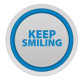 Keep smiling circular icon on white background — Stockfoto