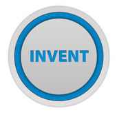 Invent circular icon on white background — Stock Photo