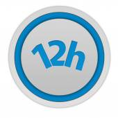 12 hours circular icon on white background — Stock Photo