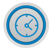 Clock circular icon on white background — Stock Photo
