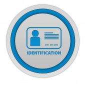 Identification circular icon on white background — Stock Photo