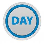 Icône circulaire jour sur fond blanc — Photo