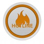 Hotline circular icon on white background — Foto de Stock