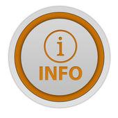 Information circular icon on white background — Stock Photo