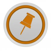 Safety pin circular icon on white background — Stockfoto