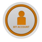 Mein Konto kreisförmige Symbol auf weißem Hintergrund — Stockfoto