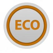 Eco circular icon on white background — Stock Photo