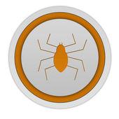 Ícone de Spidercircular em fundo branco — Fotografia Stock