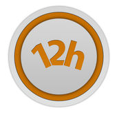 12 hours circular icon on white background — Stock Photo