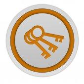 Key circular icon on white background — Stock Photo