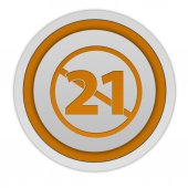 21 circular icon on white background — Stock Photo