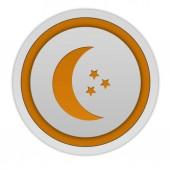 Moon circular icon on white background — Stock Photo