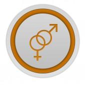 Couple circular icon on white background — Stock Photo