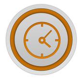 Clock circular icon on white background — Stock Photo