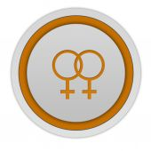 Lesbian circular icon on white background — Stock Photo