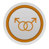 Guy circular icon on white background — Stock Photo