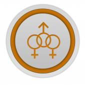 Sexuality circular icon on white background — Stock Photo
